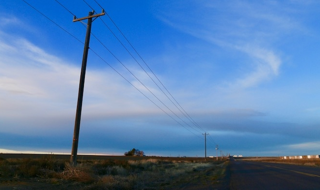 telephone pole in the countryside