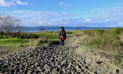 sandy path at Golden Gardens